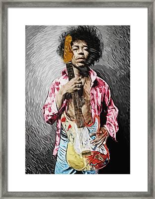 Jimi Hendrix Framed Print by Taylan Soyturk