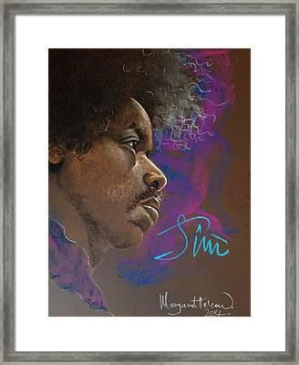 Jimi Framed Print by Margaret Halcrow - Cross
