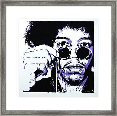 Jimi. Framed Print by Nancy Mergybrower
