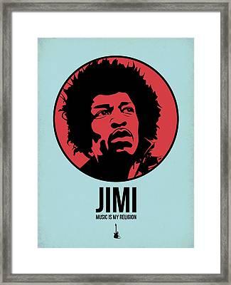 Jimi Poster 2 Framed Print by Naxart Studio