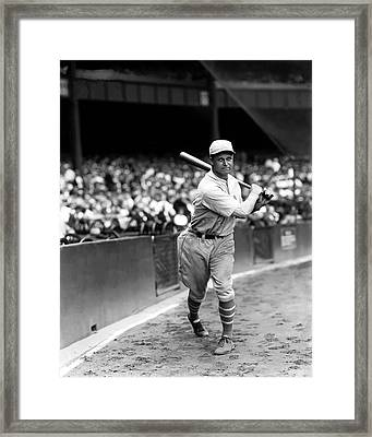 Jimmie Foxx Batting Follow Through Framed Print by Retro Images Archive