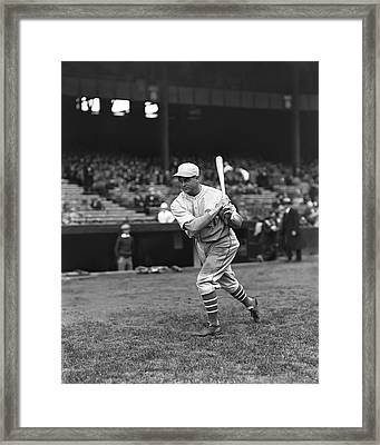 Jimmie Foxx Batting Practice Warm Up Framed Print by Retro Images Archive