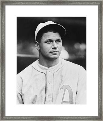 Jimmie Foxx Close Up Photo Framed Print by Retro Images Archive