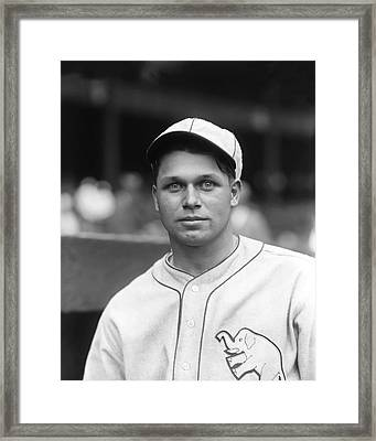 Jimmie Foxx Close Up Framed Print by Retro Images Archive