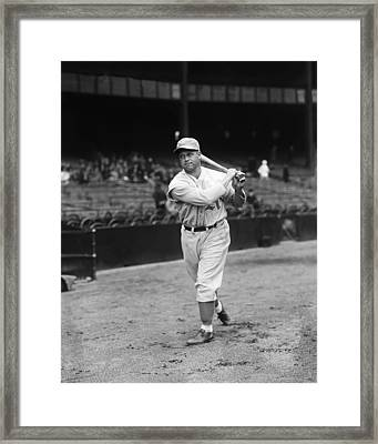 Jimmie Foxx Swing Framed Print by Retro Images Archive
