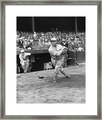 Jimmie Foxx Swinging Framed Print by Retro Images Archive