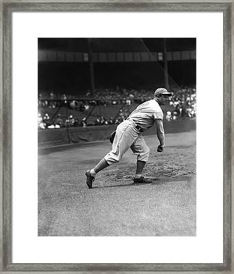 Jimmie Foxx Warming Up Framed Print by Retro Images Archive