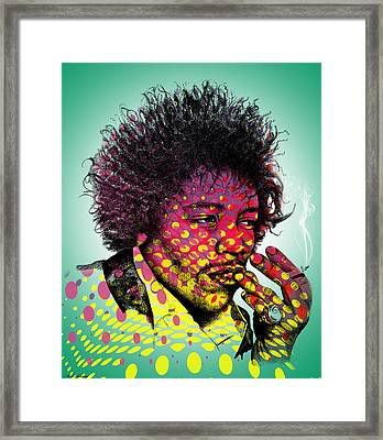 Jimmie Hendrix  Framed Print by Mark Ashkenazi