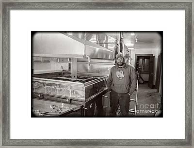 Jimmy At Mt Cube Sugar Farm Framed Print by Edward Fielding