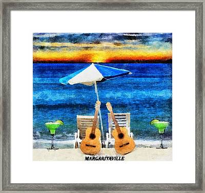 Jimmy Buffett Paradise Framed Print by Dan Sproul