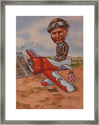 Jimmy Doolitle Framed Print by Murray McLeod