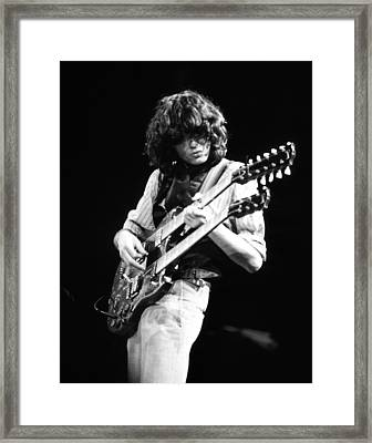 Jimmy Page 1983 Framed Print by Chris Walter