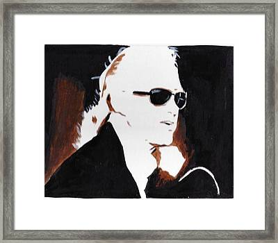 Jimmy Page 2 Framed Print by Audrey Pollitt