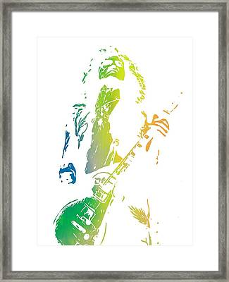 Jimmy Page Framed Print by Dan Sproul