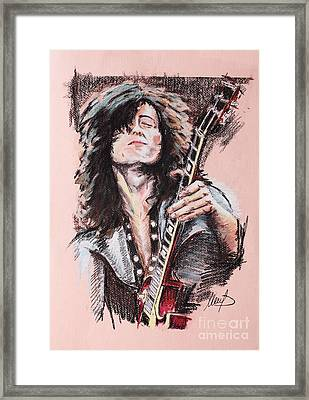 Jimmy Page Framed Print by Melanie D
