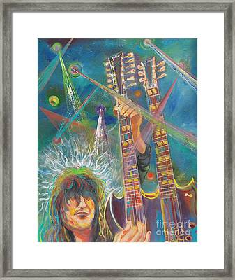 Jimmy Page Framed Print by To-Tam Gerwe