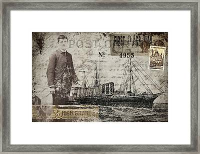 Jimmy Plays With Boats Framed Print by Carol Leigh