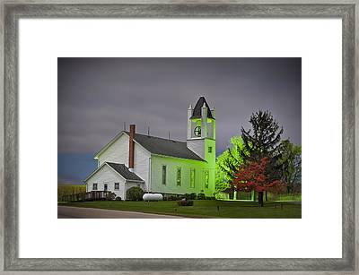 Jo Daviess County Church Framed Print by Tom Phelan
