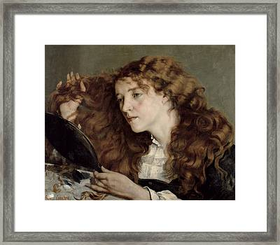 Jo The Beautiful Irish Girl Framed Print by Gustave Courbet