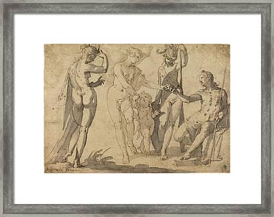 Joachim Anthonisz Wtewael, Dutch C. 1566-1638 Framed Print by Litz Collection