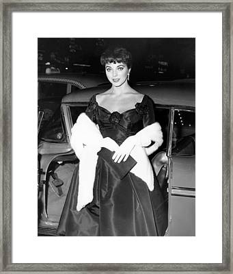 Joan Collins, Ca. Late 1950s Framed Print by Everett