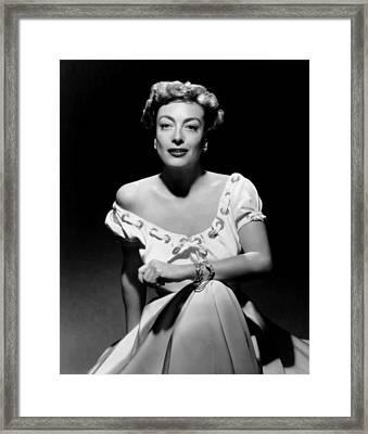 Joan Crawford, Ca. Early 1950s Framed Print by Everett