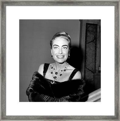 Joan Crawford, Ca. Late 1950s Framed Print by Everett