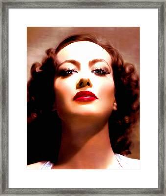 Joan Crawford Framed Print by Georgiana Romanovna