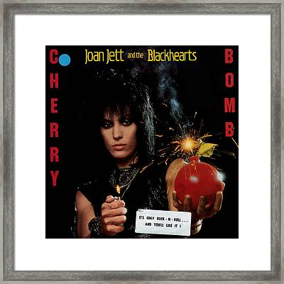 Joan Jett - Cherry Bomb 1984 Framed Print by Epic Rights