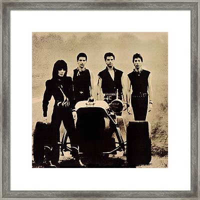 Joan Jett - Glorious Results Of A Misspent Youth 1984 - Back Cover Framed Print by Epic Rights