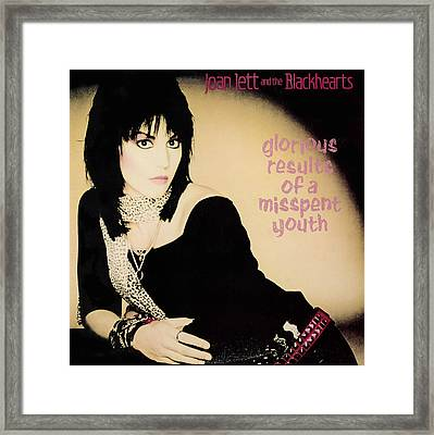 Joan Jett - Glorious Results Of A Misspent Youth 1984 Framed Print by Epic Rights