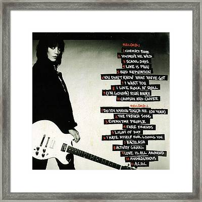 Joan Jett - Greatest Hits 2010 - Back Cover Framed Print by Epic Rights