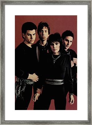 Joan Jett - I Love Rock 'n Roll 1981 - Back Cover Framed Print by Epic Rights