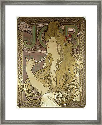Job, 1896 Colour Lithograph On Poster Paper, Framed Framed Print by Alphonse Marie Mucha