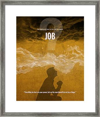 Job Books Of The Bible Series Old Testament Minimal Poster Art Number 18 Framed Print by Design Turnpike