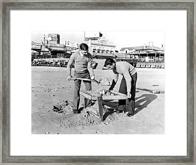 Jobless College Graduates Join The Ranks Of Beachcombers In Atla Framed Print by Underwood Archives
