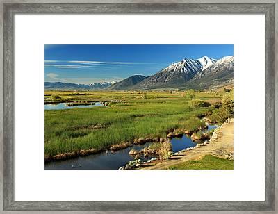 Job's Peak Carson Valley Framed Print by James Eddy
