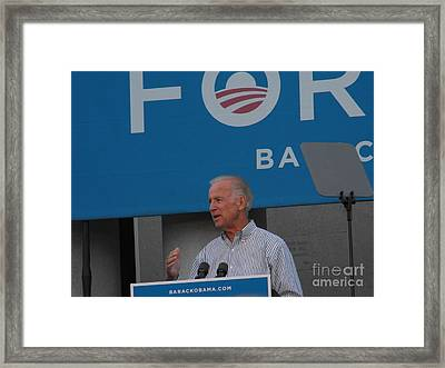 Joe Biden Framed Print by Lisa Gifford