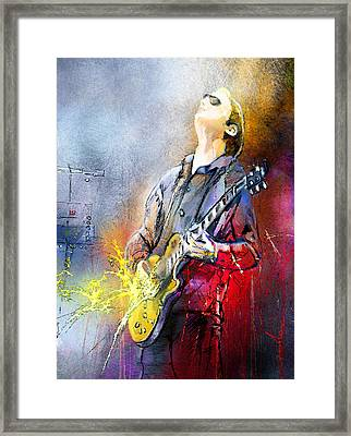 Joe Bonamassa 02 Framed Print by Miki De Goodaboom