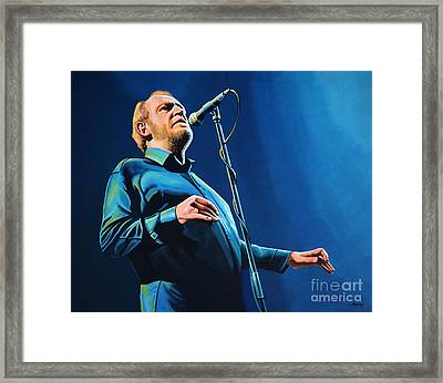 Joe Cocker Painting Framed Print by Paul Meijering