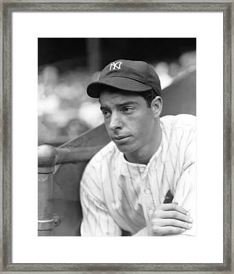 Joe Dimaggio Leaning Framed Print by Retro Images Archive