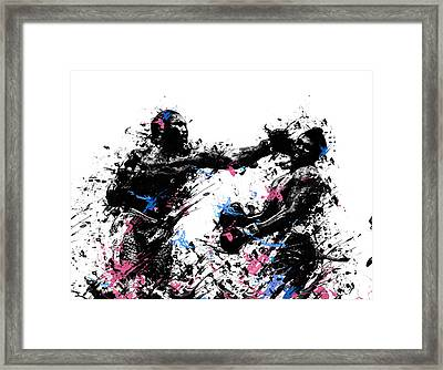 Joe Frazier Framed Print by Bekim Art