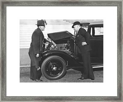 Joe Judge, Auto Salesman Framed Print by Underwood Archives