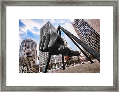 Joe Louis Fist - In Your Face - Version 2 Framed Print by Gordon Dean II