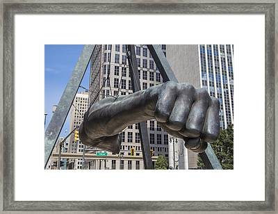 Joe Lous Fist Up Close Framed Print by John McGraw