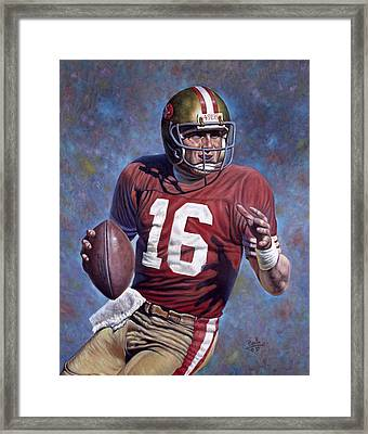 Joe Montana Framed Print by Gregory Perillo