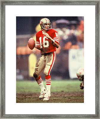 Joe Montana Framed Print by Retro Images Archive
