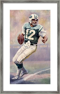 Joe Namath Framed Print by Gregory Perillo