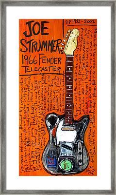 Joe Strummer's 1966 Telecaster Framed Print by Karl Haglund