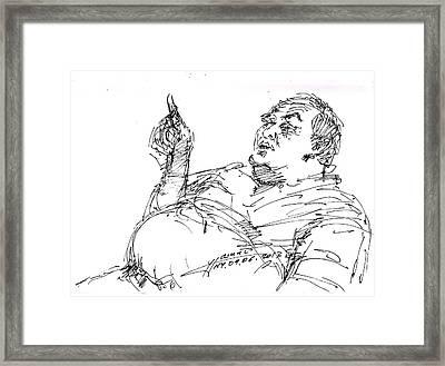 Joe The Italian Framed Print by Ylli Haruni